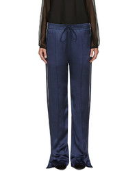Pantalones anchos de seda azul marino de Chloé
