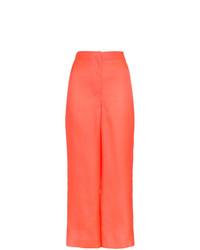 Pantalones anchos de seda rosa de Roksanda