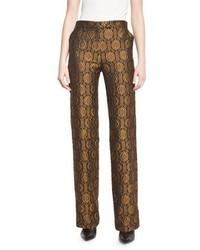 Pantalones anchos dorados de Etro