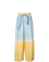 Pantalones anchos efecto teñido anudado celestes de Tome