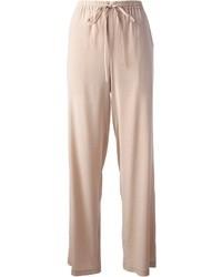 Pantalones anchos en beige