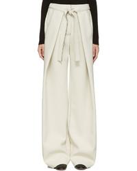 Pantalones anchos en beige de Proenza Schouler