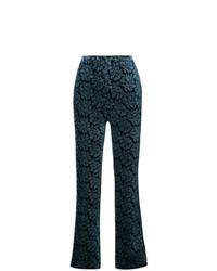 Pantalones anchos estampados azul marino de Maison Margiela