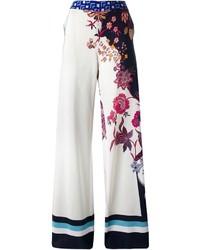 Pantalones anchos estampados blancos de Etro