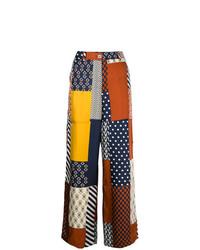 Pantalones anchos estampados en multicolor de Tory Burch