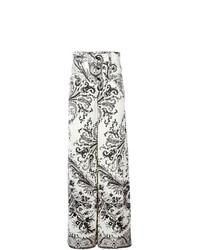 Pantalones anchos estampados en negro y blanco de Etro