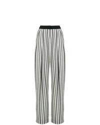 Pantalones anchos estampados en negro y blanco de Noon By Noor