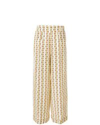 Pantalones anchos estampados marrón claro de Etro