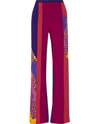 Pantalones anchos estampados morado de Peter Pilotto