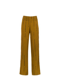 Pantalones anchos estampados mostaza de Uma Raquel Davidowicz