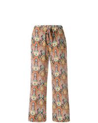 Pantalones anchos estampados naranjas de Etro