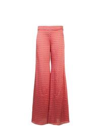 Pantalones anchos estampados rojos de Alexis