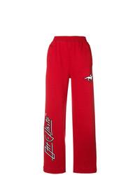 Pantalones anchos estampados rojos de Off-White