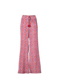 Pantalones anchos estampados rosa de Figue