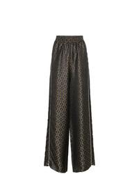 Pantalones anchos estampados verde oscuro de Golden Goose Deluxe Brand