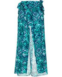 Pantalones anchos estampados verdes de BRIGITTE