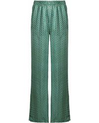 Pantalones anchos estampados verdes de Faith Connexion