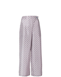 Pantalones anchos estampados violeta claro de Christian Wijnants