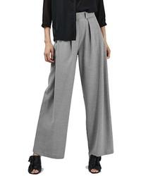 Pantalones anchos grises de Topshop