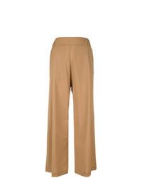 Pantalones anchos marrón claro