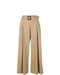 Pantalones anchos marrón claro de Etro