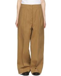 Pantalones Anchos Marrón Claro de Jil Sander
