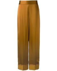Pantalones anchos marrónes de Maison Margiela