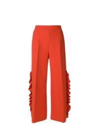 Pantalones anchos naranjas de MSGM
