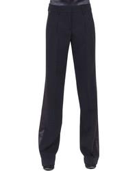 Pantalones anchos negros de Akris