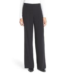 Pantalones anchos negros de DKNY