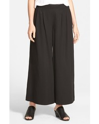 Pantalones anchos negros de Eileen Fisher