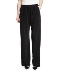 Pantalones anchos negros de Lanvin
