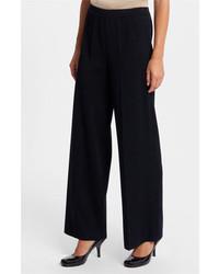 Pantalones anchos negros de Ming Wang