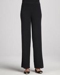 Pantalones anchos negros de Neiman Marcus