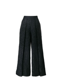 Pantalones anchos negros de Talbot Runhof