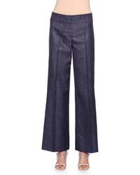 Pantalones anchos vaqueros azul marino