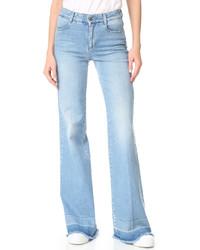 Pantalones anchos vaqueros celestes de Stella McCartney
