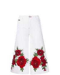 Pantalones anchos vaqueros estampados blancos de Philipp Plein
