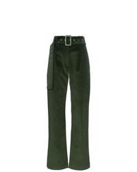 Pantalones anchos verde oscuro de Materiel
