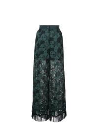 Pantalones anchos verde oscuro de Sacai