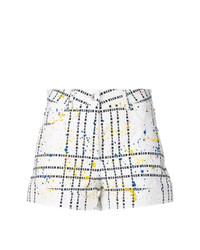 Pantalones cortos a cuadros blancos de MSGM