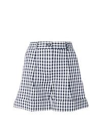 Pantalones cortos a cuadros en azul marino y blanco de P.A.R.O.S.H.