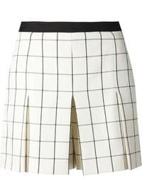 Pantalones cortos a cuadros en beige de Proenza Schouler