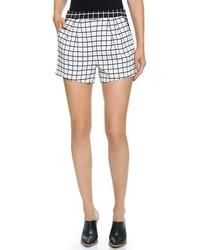 Pantalones cortos a cuadros en blanco y negro