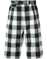 Pantalones cortos a cuadros negros