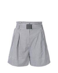 Pantalones cortos a cuadros negros de N°21