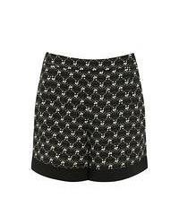 Pantalones cortos con estampado geométrico en negro y blanco