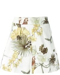 Pantalones cortos con print de flores blancos de Etro