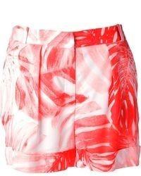 Pantalones cortos con print de flores rojos de Lala Berlin