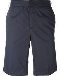 Pantalones cortos de algodón azul marino de Lanvin